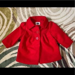 Old Navy Red Peacoat for Baby Girls